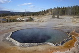 Crested Pool, Upper Geyser Basin, Yellowstone Nat'l Park, UNESCO World Heritage Site, Wyoming, USA Photographic Print by Peter Barritt