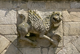 Stone Dragon Carved on Outside Wall of St. Sauveur Basilica, Dinan, Brittany, France Photographic Print by Guy Thouvenin