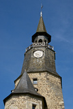 Clock Tower, Clock Bought in 1498 by the Town, Dinan, Brittany, France, Europe Photographic Print by Guy Thouvenin