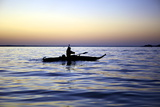 Fisherman in a Papyrus Boat, Lake Tana, Ethiopia, Africa Photographic Print by Simon Montgomery