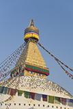 Boudhanath, UNESCO World Heritage Site, Kathmandu, Nepal, Asia Photographic Print by Ben Pipe