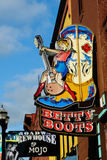 Betty Boots Women's Boot Shop in Honky Tonk, Nashville, Tennessee, United States of America Photographic Print by Bhaskar Krishnamurthy