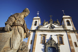 Sanctuary of Bom Jesus de Matosinhos and Prophets Sculpture, UNESCO Site, Congonhas, Brazil Photographic Print by Ian Trower