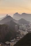 View of Urca and Botafogo, Rio de Janeiro, Brazil, South America Lámina fotográfica por Ian Trower