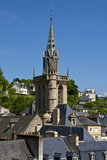 Steeple of St. Melaine Church and Surrounding Old Town Roofs, Morlaix, Finistere, Brittany, France Photographic Print by Guy Thouvenin