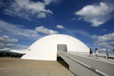 Museo Nacional (Nat'l Museum) Designed by Oscar Niemeyer, Brasilia, UNESCO Site, Brazil Photographic Print by Yadid Levy