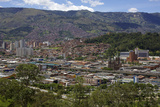 View over the City of Medellin, Colombia, South America Photographic Print by Olivier Goujon