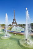 Eiffel Tower and the Trocadero Fountains, Paris, France, Europe Photographic Print by Neale Clark