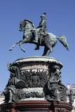 Nicholas I Monument in St. Isaac's Square, St. Petersburg, Russia, Europe Photographic Print by  Godong