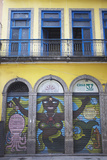 Colonial Architecture and Colourful Mural, Centro, Rio de Janeiro, Brazil, South America Photographic Print by Ian Trower