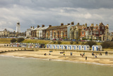 Seafront of Attractive Town with Lighthouse, Beach Huts, Southwold, Suffolk, England, UK Reproduction photographique par Rob Francis