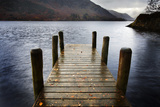 Landing Stage in Autumn at Mossdale Bay, Ullswater, Lake District Nat'l Park, Cumbria, England, UK Photographic Print by Mark Sunderland