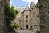 Inner Courtyard of Beaumanoir Mansion House Dating from the 16th Century, Dinan, Brittany, France Photographic Print by Guy Thouvenin