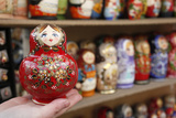 Matryoshka (Babushka) Dolls, St. Petersburg, Russia, Europe Photographic Print by  Godong