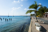 Pier in Kralendijk Capital of Bonaire, ABC Islands, Netherlands Antilles, Caribbean Photographic Print by Michael Runkel