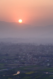 Sunset over Kathmandu, Nepal, Asia Photographic Print by Ben Pipe