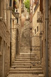 Narrow Street, Old Town, Kotor, UNESCO World Heritage Site, Montenegro, Europe Photographic Print by Frank Fell