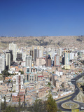 View of Downtown La Paz, Bolivia, South America Photographic Print by Ian Trower