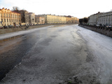 Frozen Canal in Winter, St. Petersburg, Russia, Europe Photographic Print by  Godong