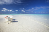 Deck Chairs on Tropical Beach, Maldives, Indian Ocean, Asia Photographic Print by Sakis Papadopoulos