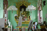 Nats Temple, Hsipaw Area, Shan State, Republic of the Union of Myanmar (Burma), Asia Photographic Print by J P De Manne