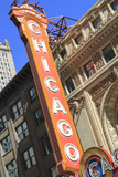 The Chicago Theater Sign Has Become an Iconic Symbol of the City, Chicago, Illinois, USA Photographic Print by Amanda Hall