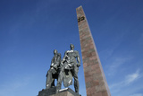 Bronze Figures of Soldiers Who Defended Leningrad, Victory Square War Mem, St. Petersburg, Russia Photographic Print by  Godong
