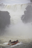 Tourist Boat at Iguazu Falls, Iguazu National Park, UNESCO World Heritage Site, Misiones, Argentina Photographic Print by Ian Trower