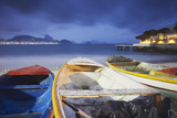 Fishing Boats on Copacabana Beach at Dusk, Rio de Janeiro, Brazil, South America Lámina fotográfica por Ian Trower