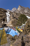 Prayer Flags, Dudh Kosi Valley, Solu Khumbu (Everest) Region, Nepal, Himalayas, Asia Photographic Print by Ben Pipe