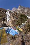 Prayer Flags, Dudh Kosi Valley, Solu Khumbu (Everest) Region, Nepal, Himalayas, Asia Photographic Print by Ben Pipe