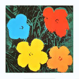 Flowers IV Affiches par Andy Warhol