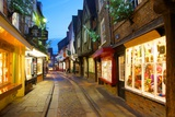 The Shambles at Christmas, York, Yorkshire, England, United Kingdom, Europe Photographic Print by Frank Fell