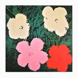 Fleurs III Posters par Andy Warhol