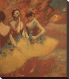 Three Dancers in Yellow Skirts, 1891 Stretched Canvas Print by Edgar Degas