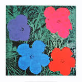 Fleurs II Art par Andy Warhol