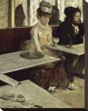 In the Cafe, 1873 Stretched Canvas Print by Edgar Degas