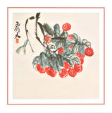 Lichee Print by  Qi Baishi