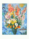 Vase of Flowers - Le Bouquet , 1958 Print by Marc Chagall
