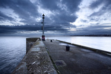 Sea Wall and Harbour Light at Bridlington, East Riding of Yorkshire, England, United Kingdom Photographic Print by Mark Sunderland