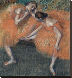 Two Dancers, ca. 1898 Stretched Canvas Print by Edgar Degas