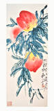 Three Peaches Prints by  Qi Baishi