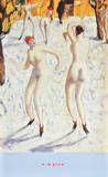 Dancers in the Snow Prints by Alfons Walde