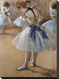 A Study of a Dancer Stretched Canvas Print by Edgar Degas