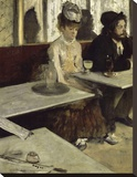 In the Cafe, 1873 Stretched Canvas Print by Degas Edgar
