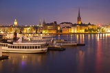 City Skyline from City Hall at Dusk, Kungsholmen, Stockholm, Sweden, Scandinavia, Europe Photographic Print by Frank Fell