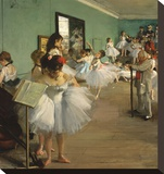 The Dance Class, 1874 Stretched Canvas Print by Edgar Degas