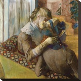 At the Milliners, 1881 Stretched Canvas Print by Edgar Degas