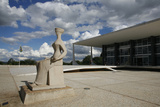 Justice Sculpture in Front of Supremo Tribunal Federal, Brasilia, UNESCO Site, Brazil Photographic Print by Yadid Levy