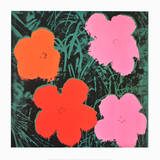 Flowers I Art by Andy Warhol